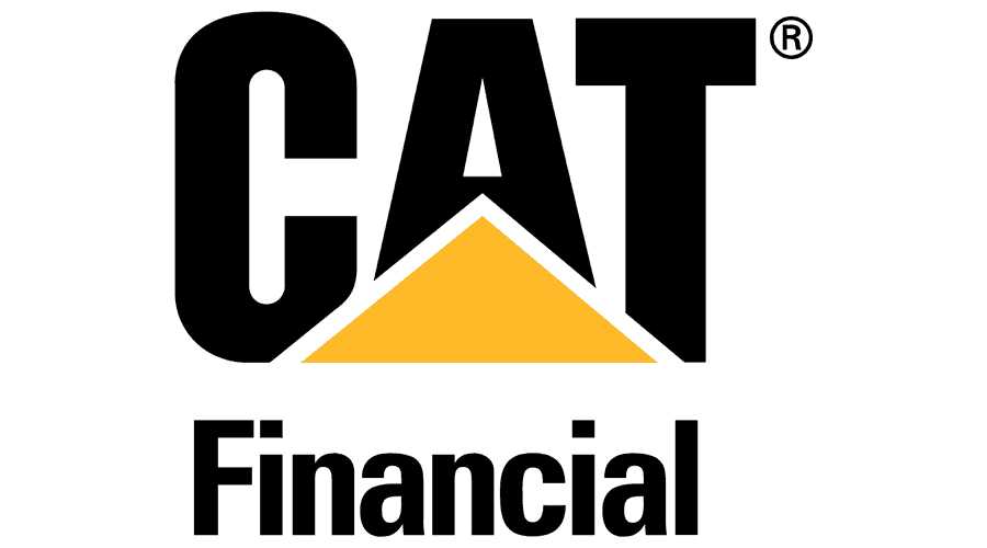 Cat Financial Logo Vector