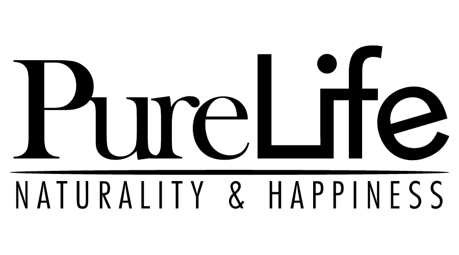 Pure Life Naturality and Happiness Logo Vector