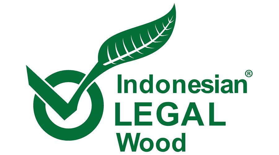 Indonesian Legal Wood Logo Vector