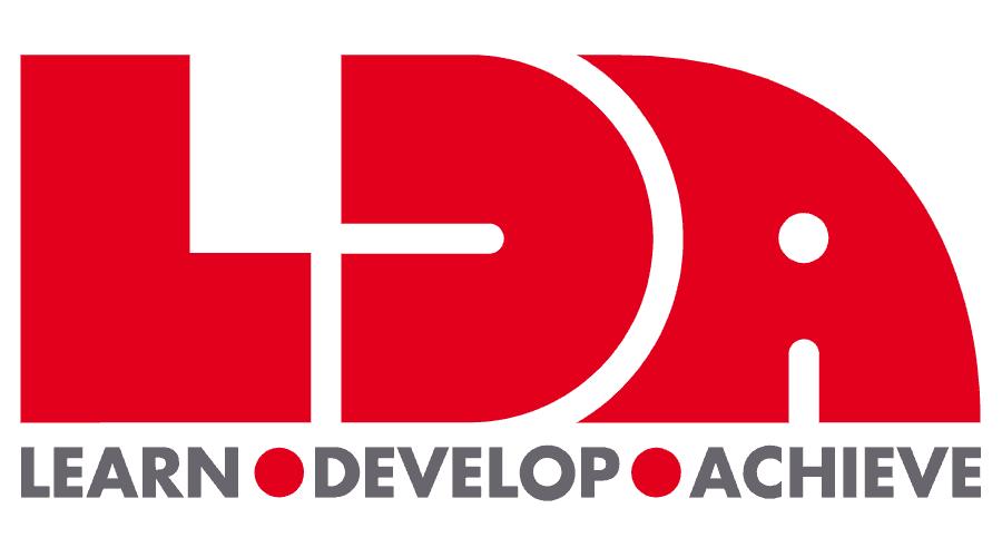 LDA (Learn, Develop, Achieve) Logo Vector
